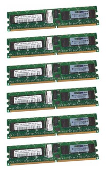 6GB KIT PC2-3200R HP 345113-051